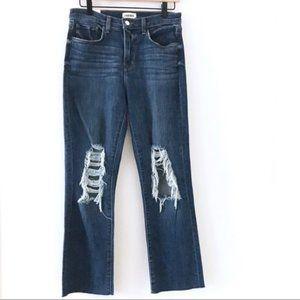 L'AGENCE Jordan High Rise Straight Crop Jeans NWT